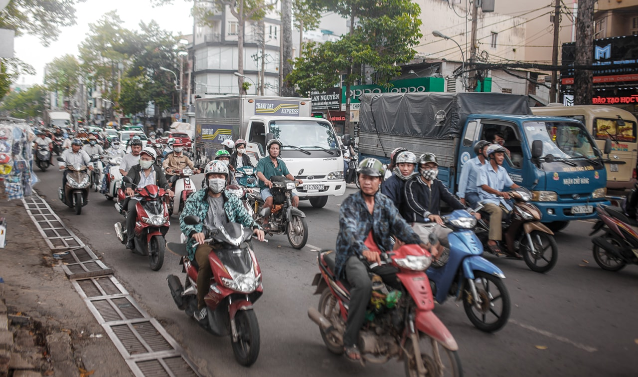 Chaos on the roads of Vietnam