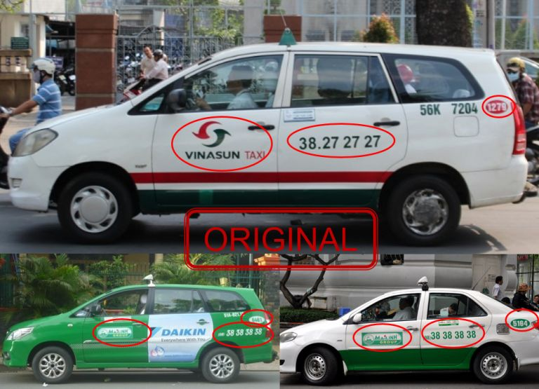 Original taxi in Vietnam