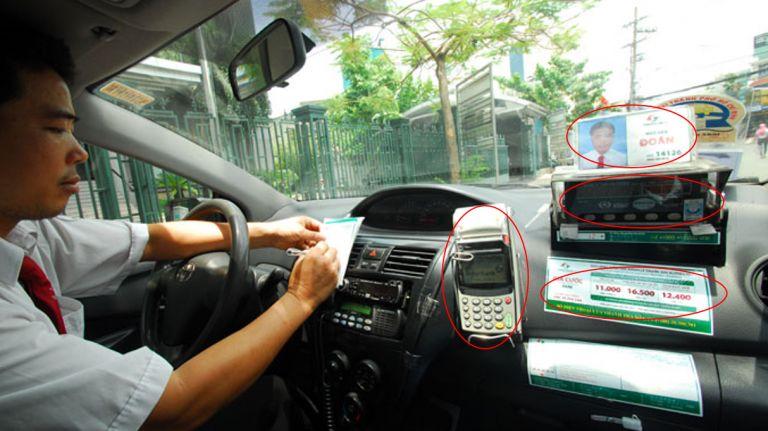 vietnamese taxi inside