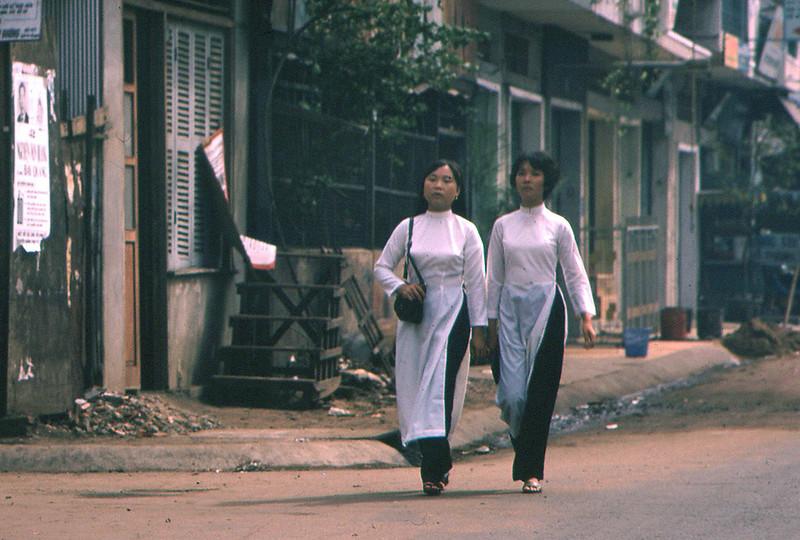 Two Women in Ao Dai