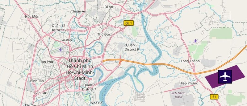 Ho Chi Minh Airport Map