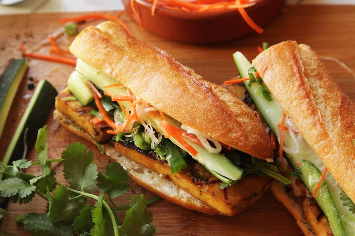 Banh Mi, or a vegetable sandwich