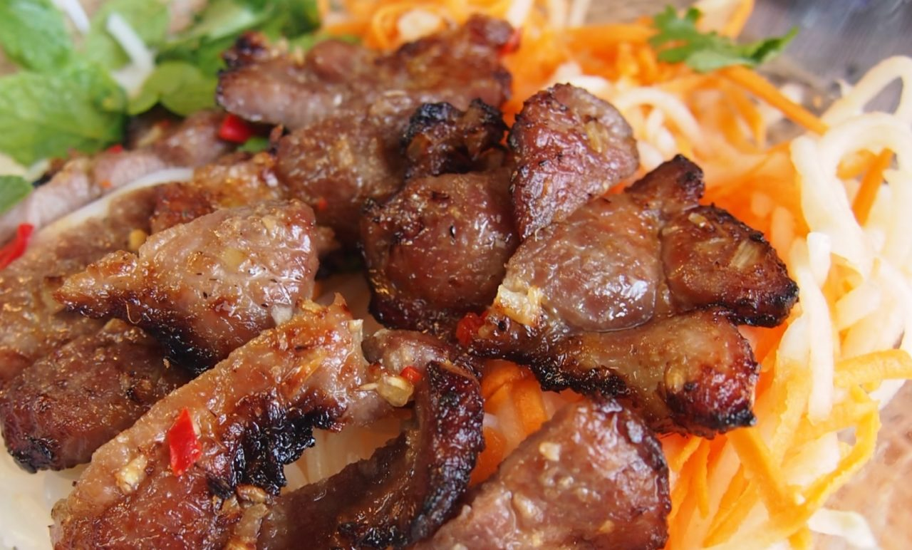 Bun Thit Nuong, which is noodle with pork