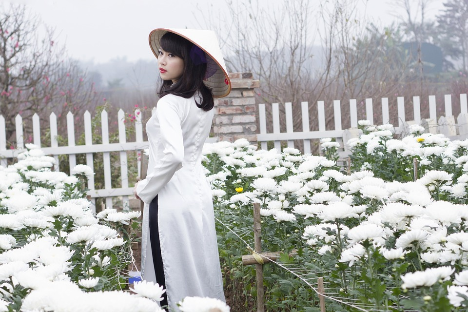 Young Woman in Ao Dai
