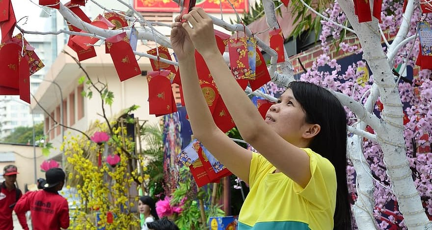 Woman Prepearing For Tet Holidays