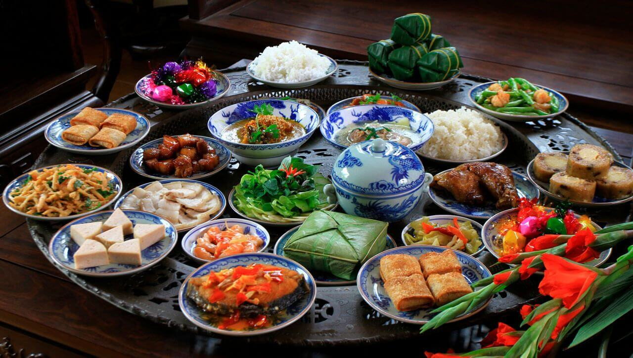 Food Prepeared For Lunar New Year