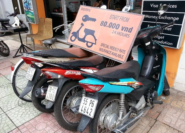 Rent of bikes from 80.000 dong