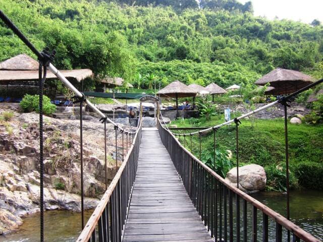 Канатный мост в парке Янг Бэй