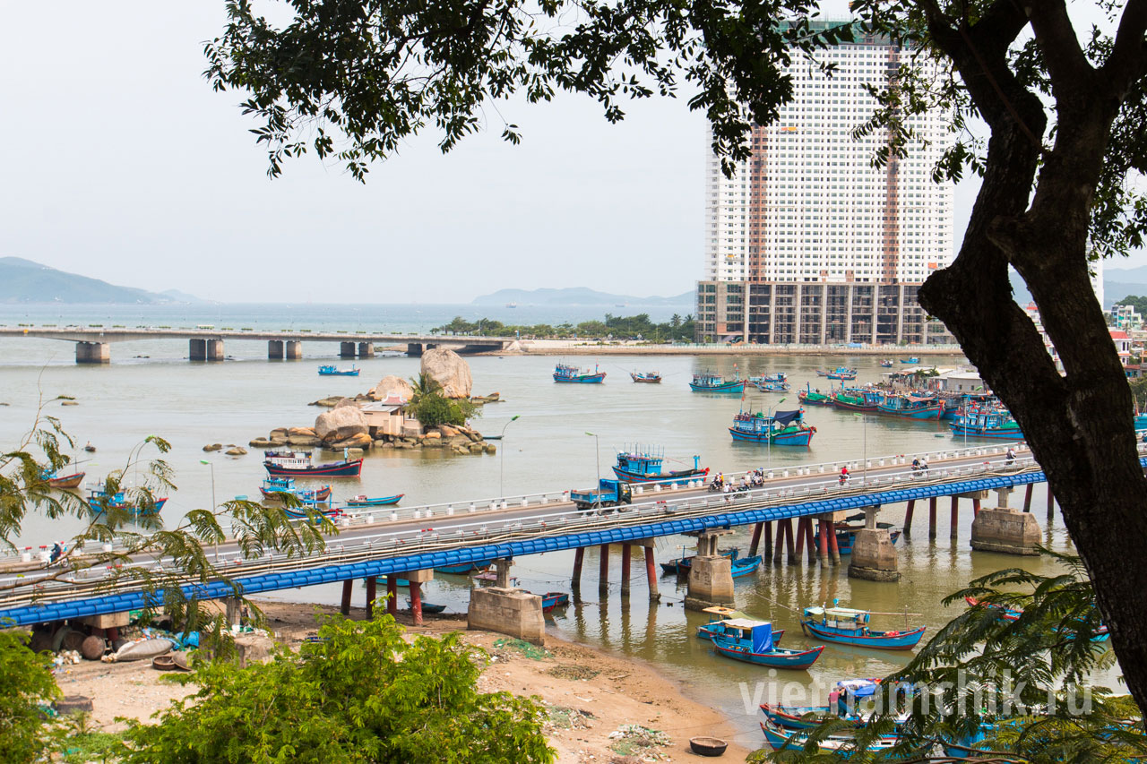 View of the bridge and the city of Nha Trang