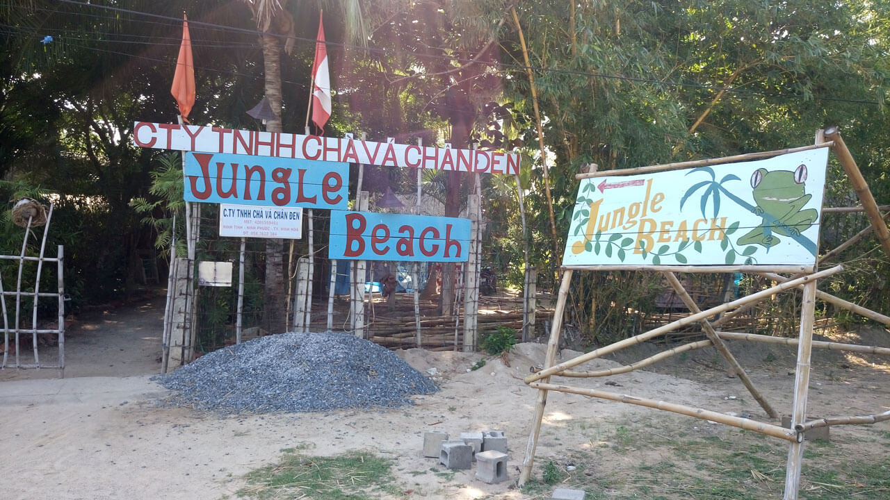 Sign of the Jungle Beach Resort