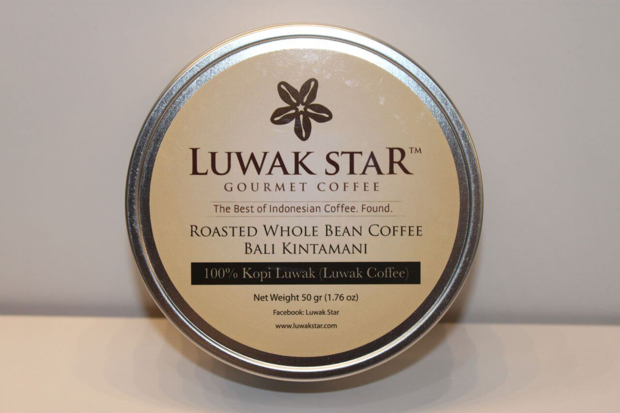 A jar of elite Luwak coffee