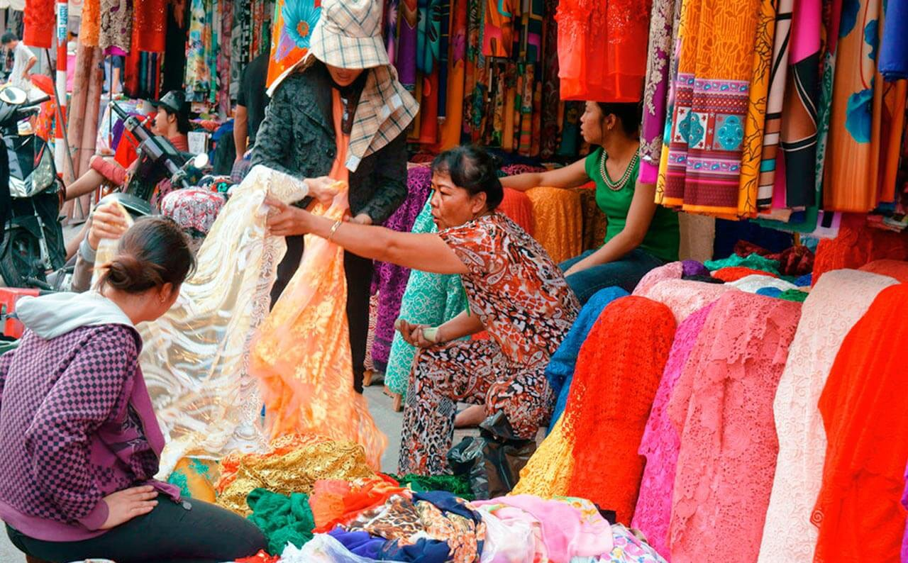 Sale of silk
