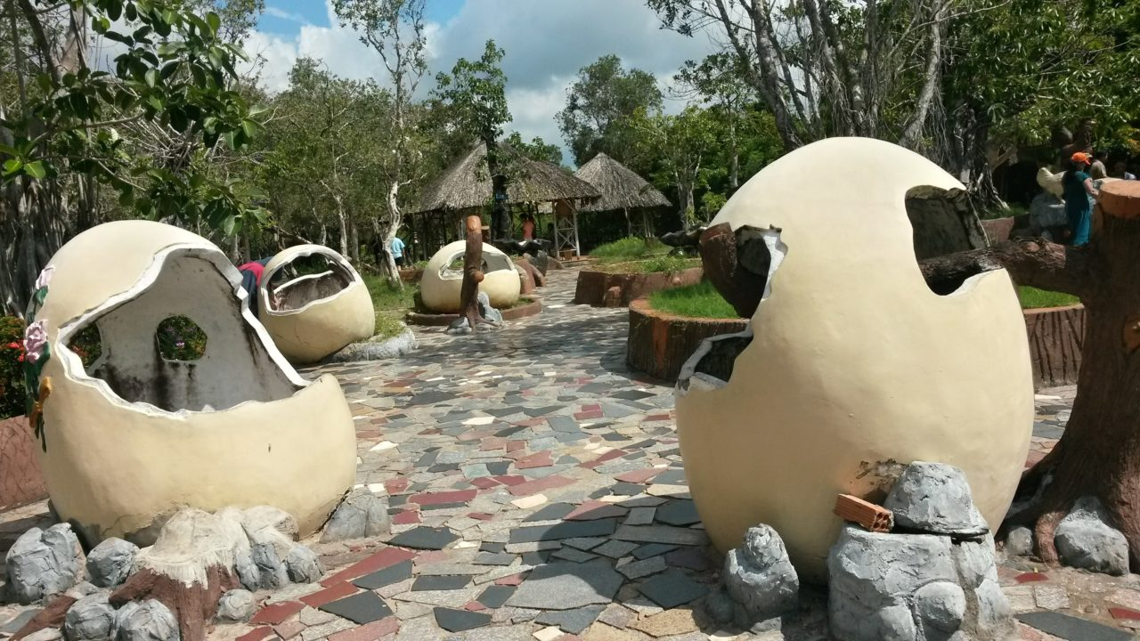 Egg shaped sculptures