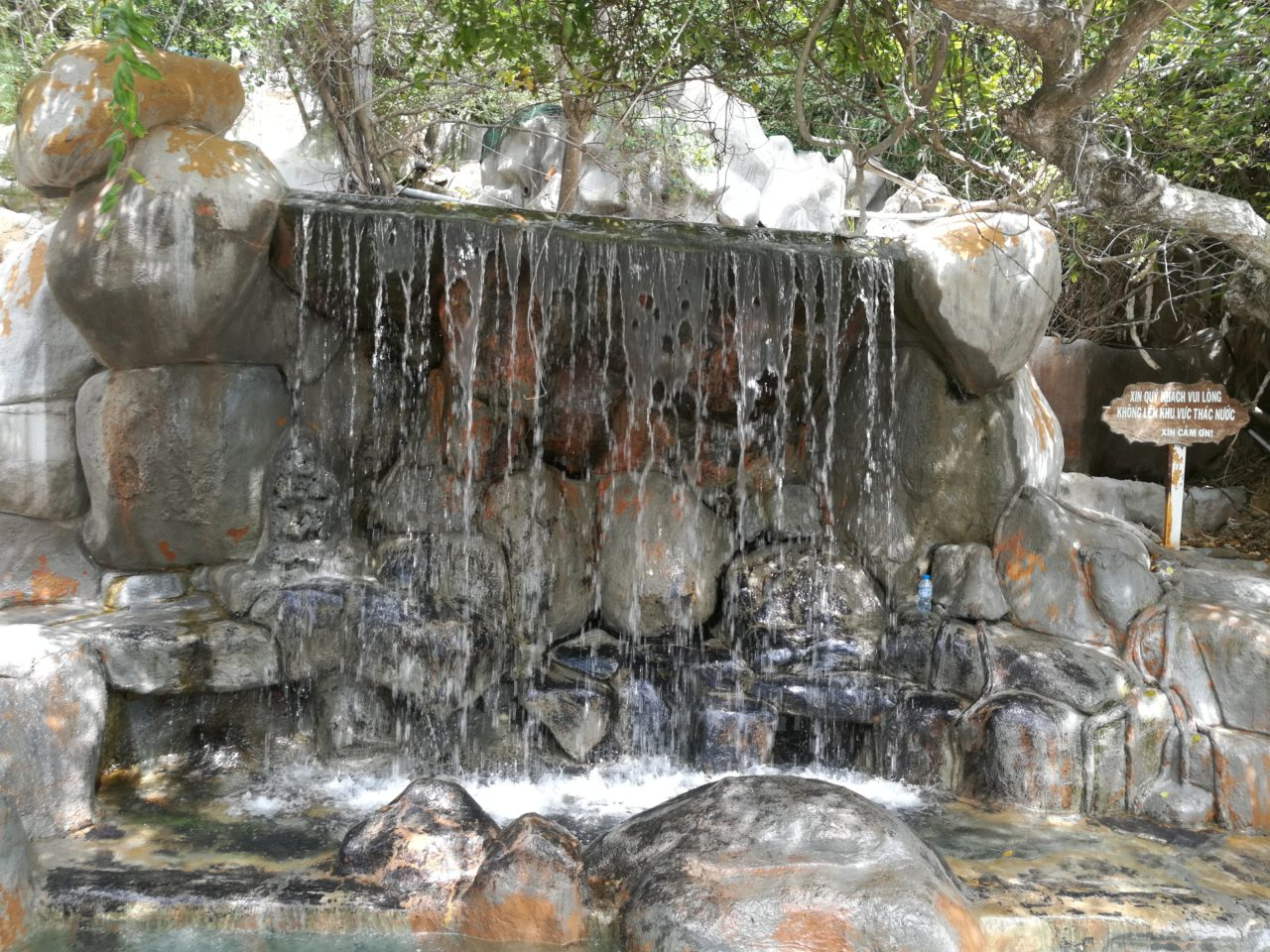 Waterfall in the springs
