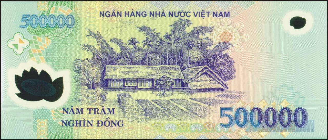 500.000 dongs banknote