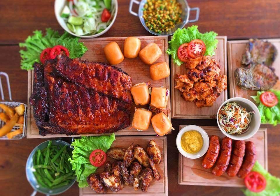 Delicious dishes in BBQ UN IN