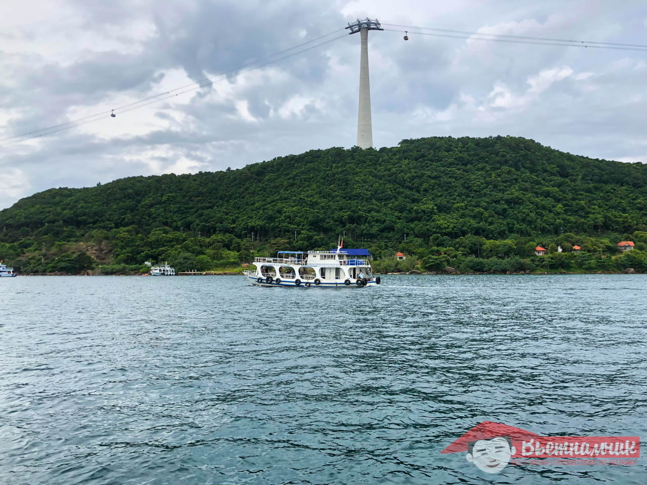 Cableway between Phu Quoc Islands in Vietnam and Thom