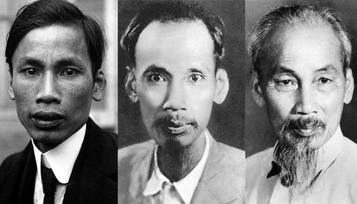 Photo of Ho Chi Minh at different ages