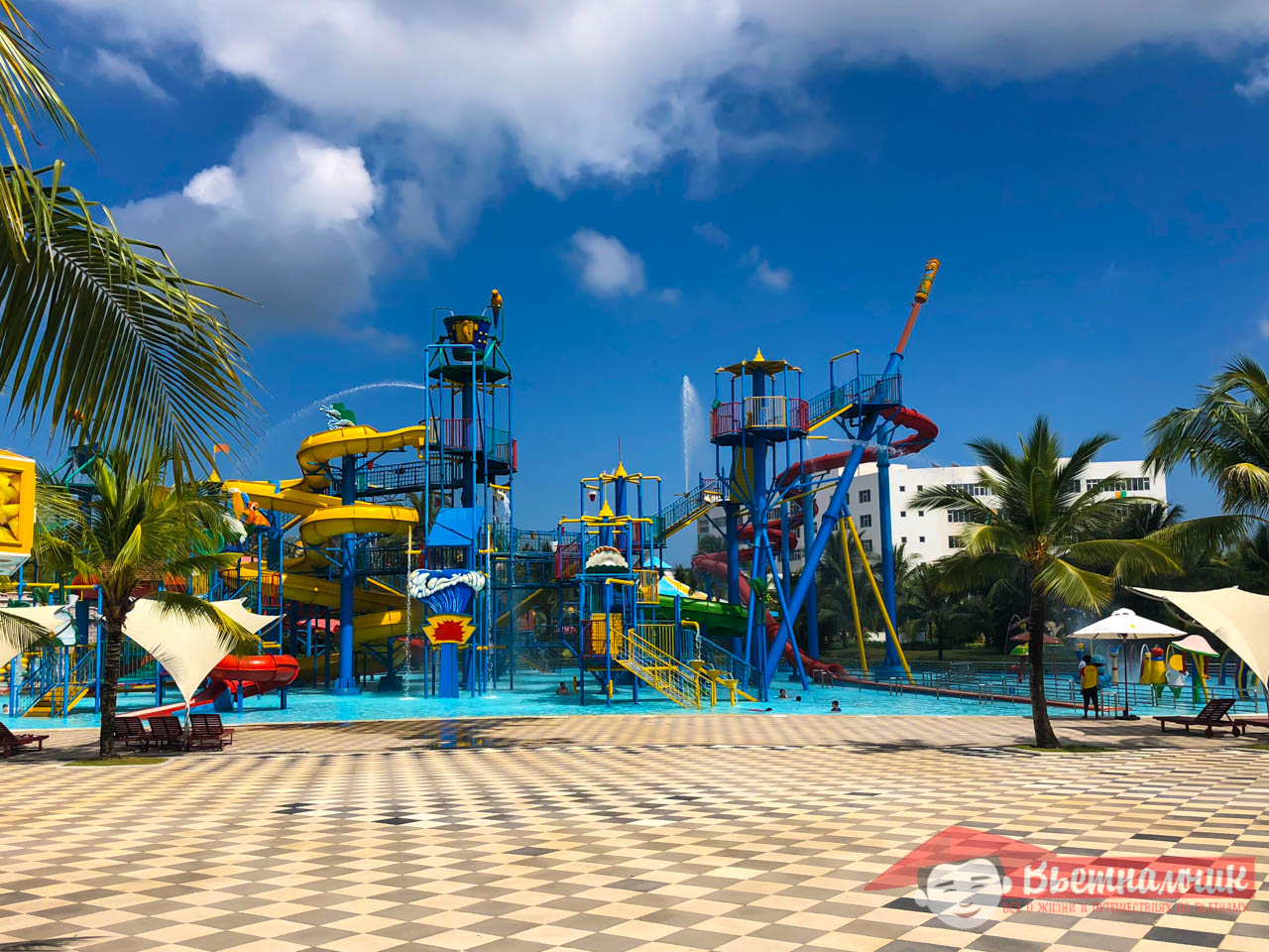 Waterpark in the entertainment park Winperl (Phu Quoc, Vietnam)