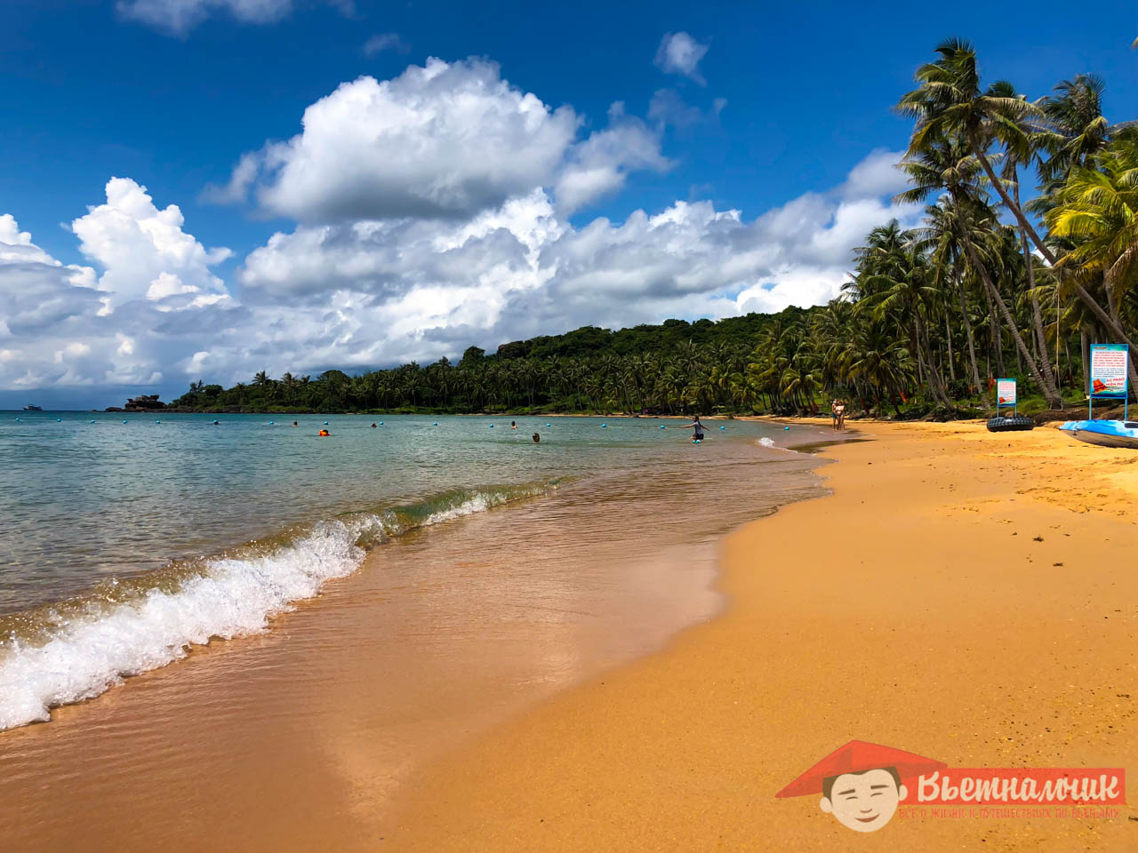 Beach on Thom Island (Phu Quoc, Vietnam)