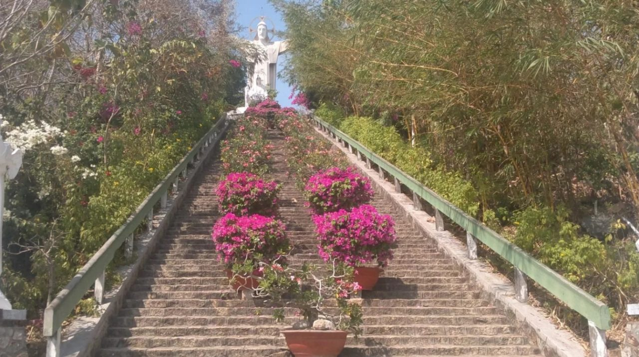 Staircase to the statue